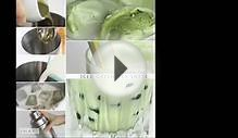 Iced Green Tea Latte - Tapioca Bubble Tea Recipe - Boba
